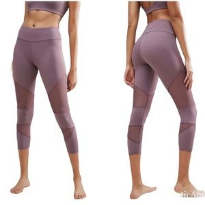 Onzie Lilac Mesh Panel Yoga Leggings Size M/L